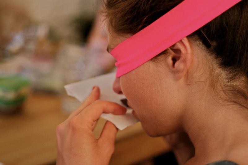 Pink blindfold. Photography: Caroline S'Jegers