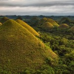 The 'chocolate hills' in Carmen on Bohol, an island by the Philippines